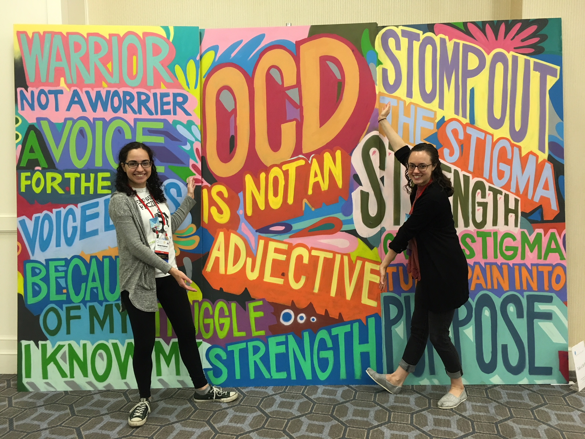 Morgan and Molly at the 25th Annual OCD Conference.